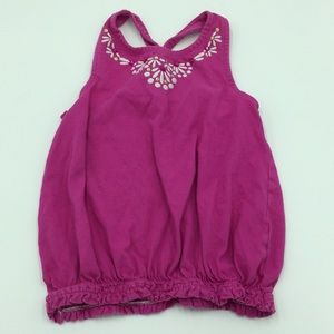 Gymboree Girls 8 pink embroidered tank top